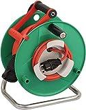 Brennenstuhl Garant G Bretec IP44 Gartenkabeltrommel (Kabeltrommel für Rasenmäher mit 48+2m Kabel...