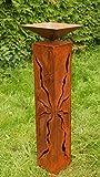 Rostsäulen 80 cm mit Muster zum Beleuchten Gartendeko Rostdeko
