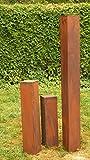 Rostsäulen Gartendeko Rost Familie 150cm, 80cm, 60cm