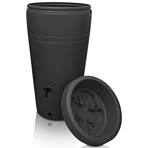 YourCasa Regentonne 230 Liter [Decore Design] Regenfass Frostsicher aus Kunststoff -...