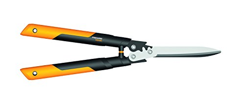 Fiskars PowerGear X Getriebe-Heckenschere, Antihaftbeschichtet, Hochwertige Stahl-Klingen, Länge:...