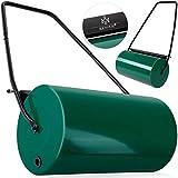 Kesser® - Rasenwalze 60cm 48l Füllvolumen Metall mit Schmutzabweiser Handwalze Rasenroller Gartenwalze Ackerwalze Walze befüllbar mit Wasser/Sand 60 kg Grün