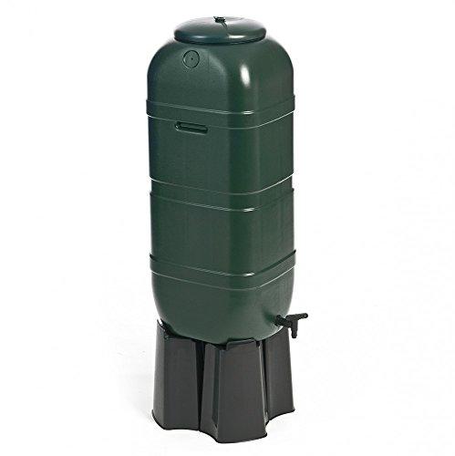 Regentonne, Wassertonne 100 Liter in Grün mit Stand, Füllautomat und Wasserhahn. Optimal u.a. für...