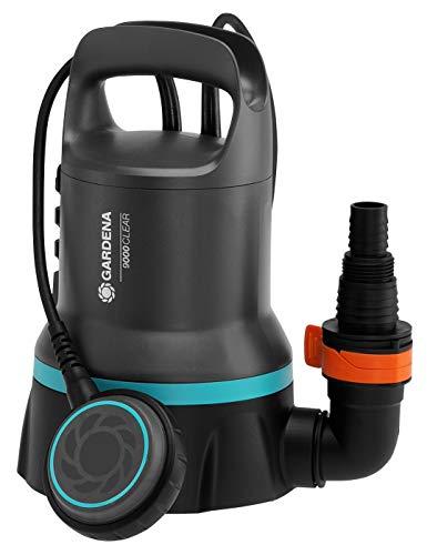GARDENA Klarwasser-Tauchpumpe 9000: 300W Leistung, 9.000 l/h max. Fördermenge, 0,6 bar max. Druck,...
