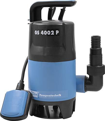 Güde 94630 Schmutzwassertauchpumpe GS4002P mit var.Schwimmerschalter (400W, 7500l/h, 5m max....