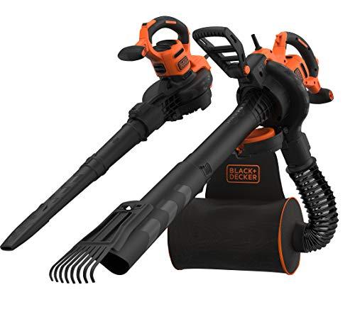 Black+Decker 3-in-1 Elektro Laubsauger & Laubbläser (3.000 Watt, mit Häcksler + aufsteckbarem...