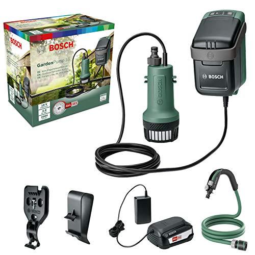Bosch Tauchpumpe GardenPump 18 (1x Akku, 18-Volt-System, max. Länge des Gartenschlauchs: 25 m, im...