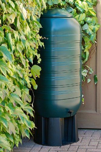 XXL Regentonne aus Kunststoff mit 250 Liter Volumen inklusive Stand, Füllautomat und Hahn! In...