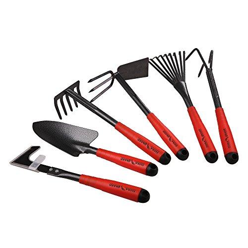 FLORA GUARD Gartengeräte,-6 Stück Garten Werkzeug Set Einschließlich Weeder, Gartenkelle,...