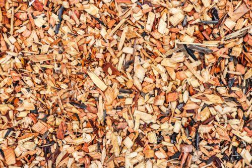 Mulch gehäckseltes Material